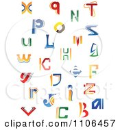 Clipart Abstract Colorful Letters A Through Z Royalty Free Vector Illustration