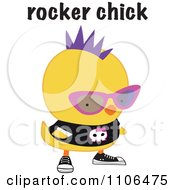 Clipart Cute Rocker Chick With A Mohawk And Skull Shirt Royalty Free Vector Illustration