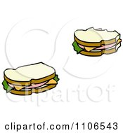 Clipart Bologna Sandwiches Royalty Free Vector Illustration