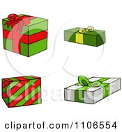 Clipart Christmas Gift Boxes Royalty Free Vector Illustration