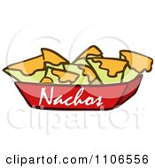 Clipart Tray Of Nachos And Cheese Royalty Free Vector Illustration