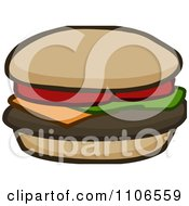 Clipart Cheeseburger Royalty Free Vector Illustration