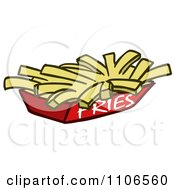 Clipart Tray Of French Fries Royalty Free Vector Illustration
