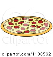 Clipart Pizza Pie Royalty Free Vector Illustration