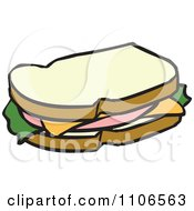 Clipart Bologna Sandwich Royalty Free Vector Illustration