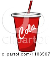 Clipart Red Fountain Soda Cola Cup Royalty Free Vector Illustration