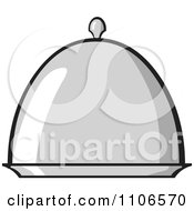 Clipart Silver Platter With Lid Royalty Free Vector Illustration