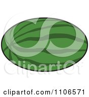 Clipart Whole Watermelon Royalty Free Vector Illustration