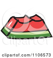 Clipart Eaten Watermelon Royalty Free Vector Illustration