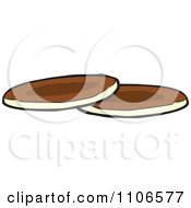 Clipart Two Pancakes Royalty Free Vector Illustration