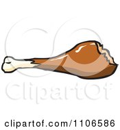 Clipart Chicken Drumstick With A Missing Bite Royalty Free Vector Illustration