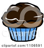 Clipart Chocolate Cupcake Royalty Free Vector Illustration