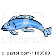 Clipart Blue Fish Royalty Free Vector Illustration