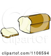 Clipart Loaf Of Bread And Slice Royalty Free Vector Illustration