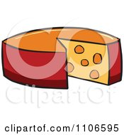 Clipart Wheel Of Cheese Royalty Free Vector Illustration