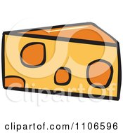Clipart Wedge Of Cheese Royalty Free Vector Illustration