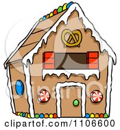 Clipart Gingerbread Home Royalty Free Vector Illustration by Cartoon Solutions