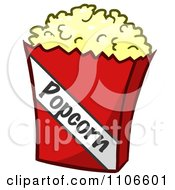 Clipart Bag Of Movie Popcorn Royalty Free Vector Illustration