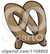 Clipart Soft Pretzel Royalty Free Vector Illustration