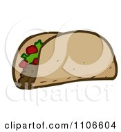 Clipart Taco With Tomatos And Lettuce Royalty Free Vector Illustration