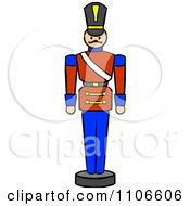 Clipart Christmas Nutcracker Toy Soldier Royalty Free Vector Illustration by Cartoon Solutions #COLLC1106606-0176