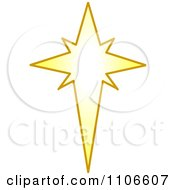 Clipart Christmas Star Royalty Free Vector Illustration