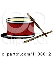 Clipart Drum And Sticks Royalty Free Vector Illustration