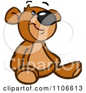 Clipart Happy Teddy Bear Royalty Free Vector Illustration by Cartoon Solutions