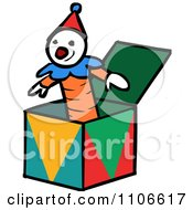 Clipart Jack In The Box Toy Royalty Free Vector Illustration by Cartoon Solutions