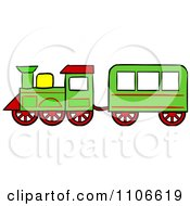 Clipart Christmas Toy Train Royalty Free Vector Illustration
