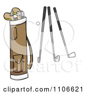 Clipart Golf Bag Ball And Clubs Royalty Free Vector Illustration by Cartoon Solutions