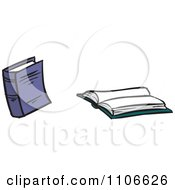 Clipart Text Books Royalty Free Vector Illustration