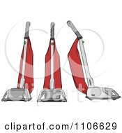 Clipart Red Vacuums Royalty Free Vector Illustration