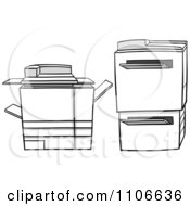 Clipart Photocopier Machines Royalty Free Vector Illustration by Cartoon Solutions