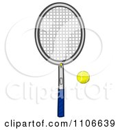Clipart Tennis Ball And Racket Royalty Free Vector Illustration by Cartoon Solutions