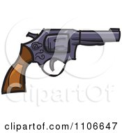 Clipart Revolver Royalty Free Vector Illustration