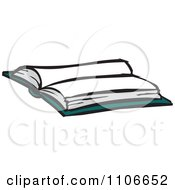 Clipart Open Book Royalty Free Vector Illustration