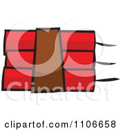 Clipart Dynamite Explosve Sticks Royalty Free Vector Illustration