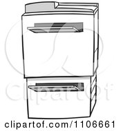 Clipart Office Photocopier Machine Royalty Free Vector Illustration by Cartoon Solutions