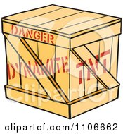 Clipart Dynamite Crate Royalty Free Vector Illustration