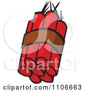 Clipart Dynamite Sticks Royalty Free Vector Illustration
