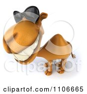 Clipart 3d Happy Camel Wearing Sunglasses Royalty Free CGI Illustration