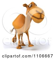 Clipart 3d Happy Camel Walking Royalty Free CGI Illustration