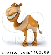 Clipart 3d Happy Camel Royalty Free CGI Illustration