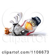 Clipart 3d Police Chicken Resting Royalty Free CGI Illustration