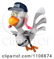 Clipart 3d Police Chicken Flying 2 Royalty Free CGI Illustration