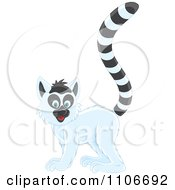 Clipart Cute Ring Tailed Lemur Royalty Free Vector Illustration by Alex Bannykh