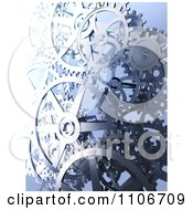 Clipart 3d Industrial Gear Cogs On Blue Royalty Free CGI Illustration