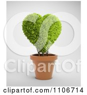 Clipart 3d Heart Shaped Potted Plant Royalty Free CGI Illustration by Mopic