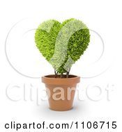 Clipart 3d Heart Potted Plant Royalty Free CGI Illustration by Mopic